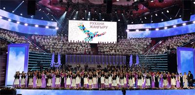 Елбасы Қазақ ұлттық өнер университетінің 20 жылдық мерейтойына арналған салтанатты концертке барды