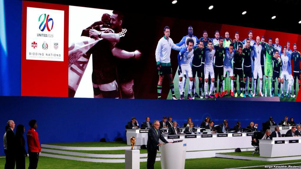 2026 жылғы футболдан әлем біріншілігі АҚШ, Канада және Мексикада өтеді
