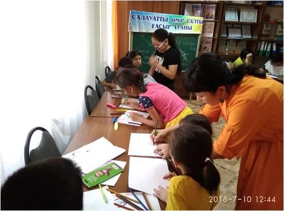Лагерьдегі балаларға аурудың алдын алу жөнінде тренинг өтті
