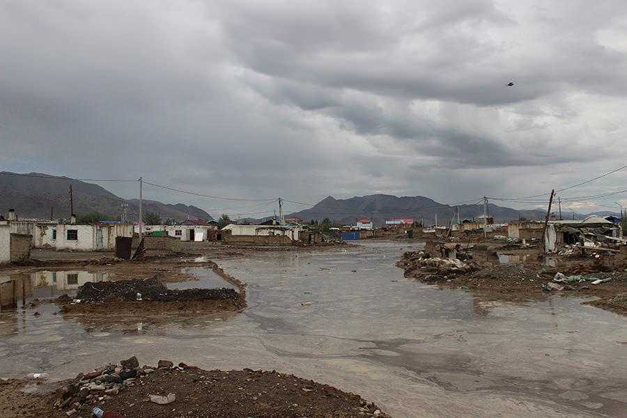 Моңғолиядағы су тасқынынан 170 отбасы зардап шекті