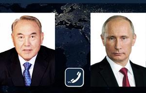 Президент Путинмен телефон арқылы сөйлесті