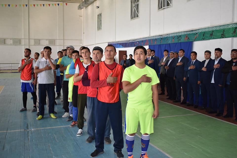 Сарыағаштық имамдар футбол ойнап жарысты