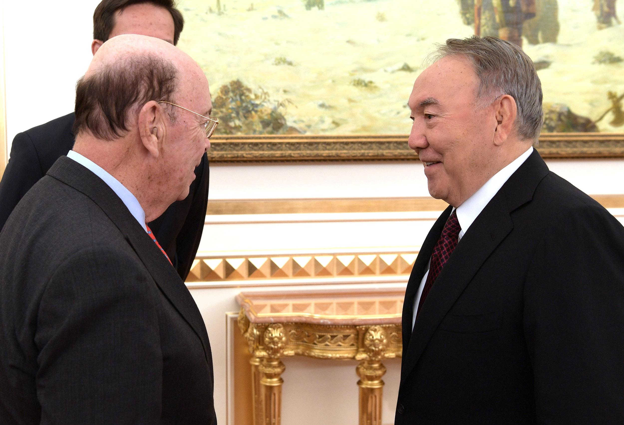 Назарбаев АҚШ-тың Сауда министрі Уилбур Росспен кездесті