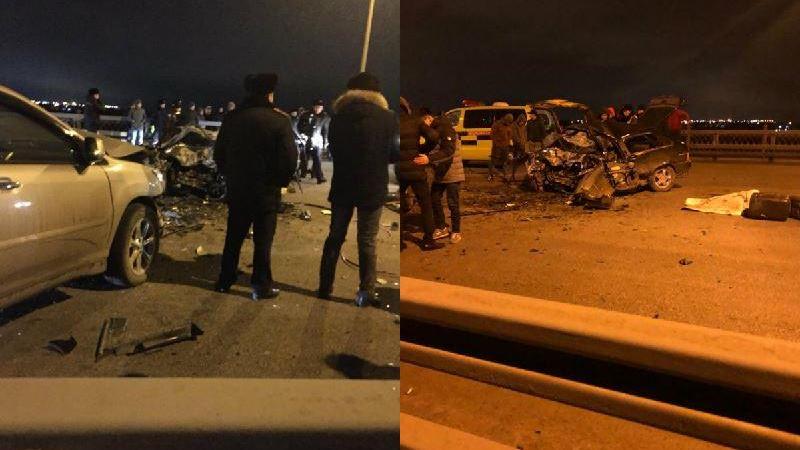 Көпірде болған жол апатынан 3 адам мерт болды