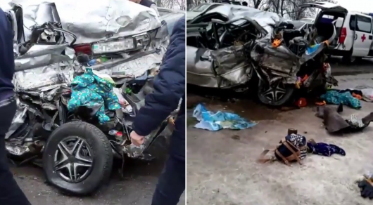 Алматы облысында жантүршігерлік жол апатынан 3 адам қаза тапты (видео)