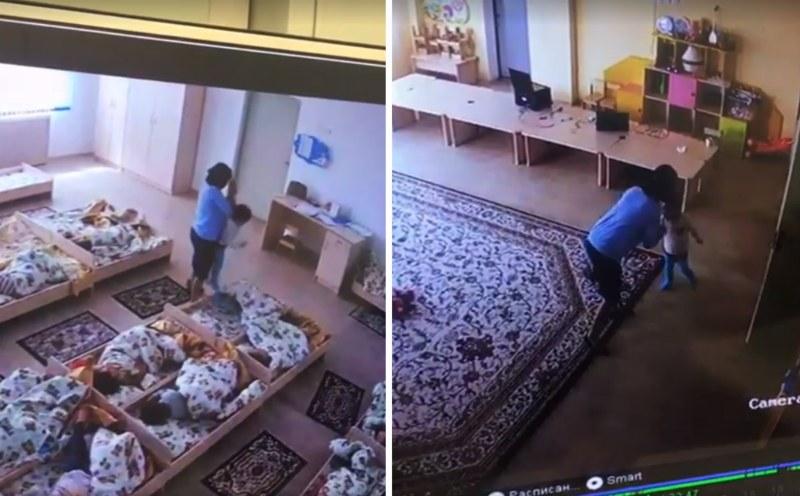 Балаларды тәпішкемен бетінен ұрған балабақша тәрбиешісінің әрекеті видеоға түсіп қалды (видео)