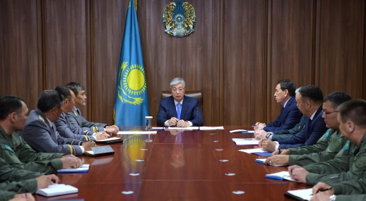 Қасым-Жомарт Тоқаев Мемлекеттік күзет қызметінің басқарушы құрамымен кездесті