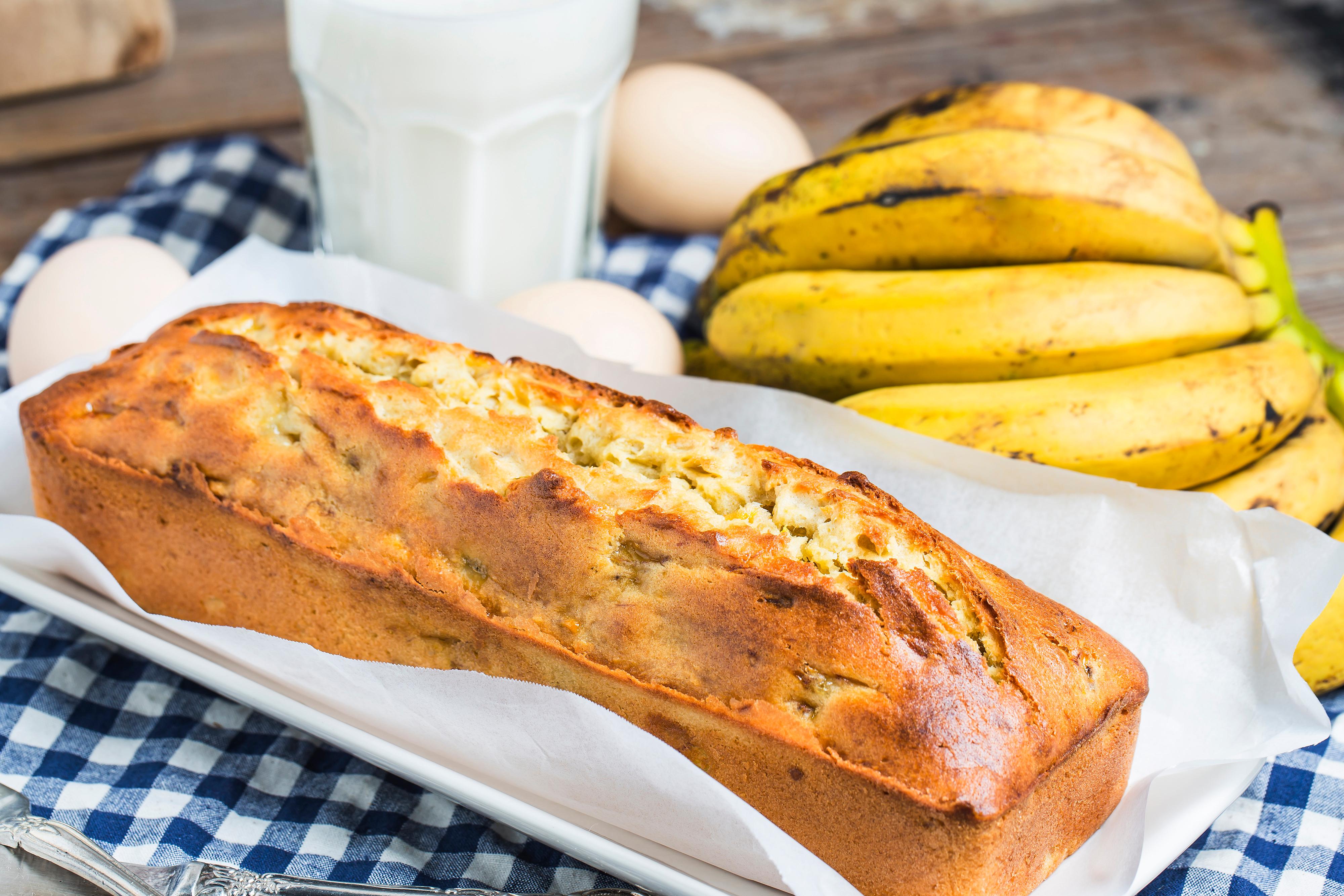 Банан қосылған нан: ДӘМІ ТІЛ ҮЙІРЕДІ