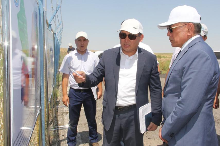 ТҮРКІСТАН: Аудан әкімі Ордабасыдағы бірқатар нысандардың аралады