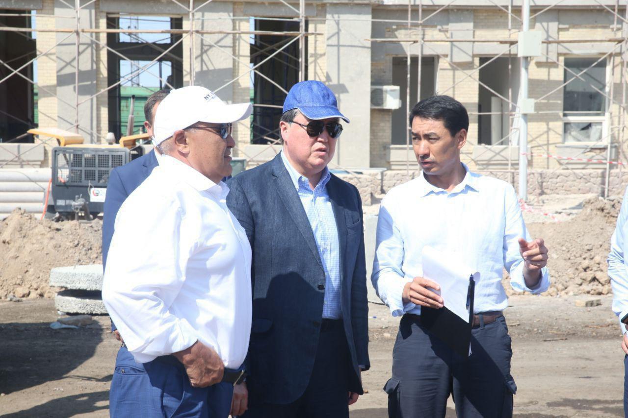 Асқар Мамин: Арыс қаласындағы құрылыс жұмыстары 20 тамызға дейін аяқталуы тиіс