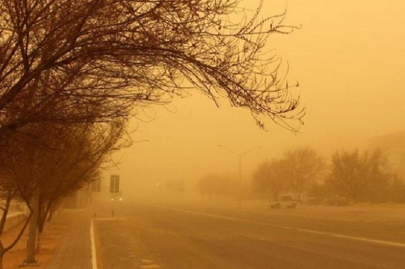 ТҮРКІСТАН: Түркістан облысының кей жерлерінде найзағай ойнап, шаңды дауыл соғады