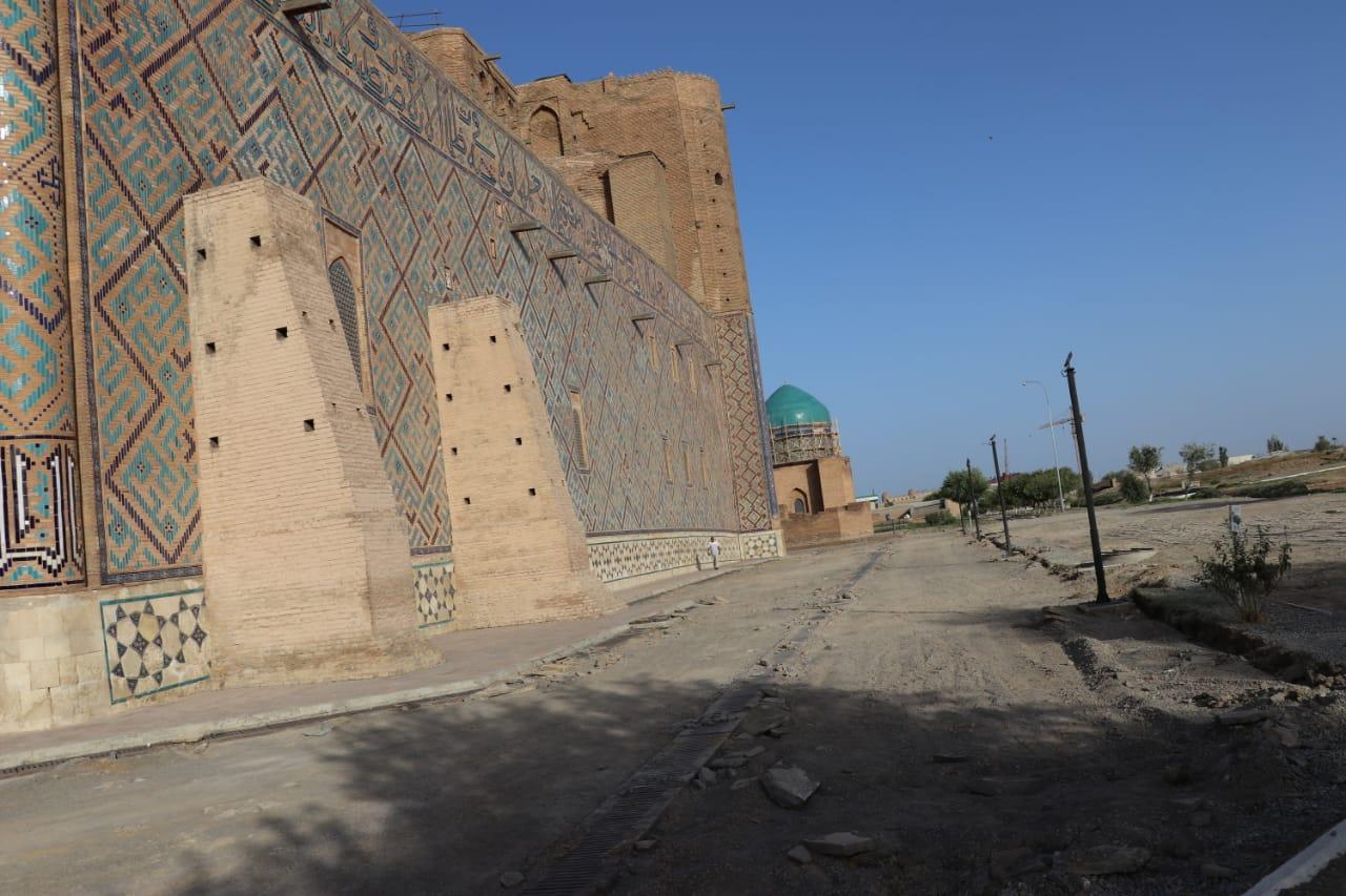ТҮРКІСТАН:  Қожа Ахмет Яссауи кесенесінде қайта жаңарту жұмыстары жүріп жатыр