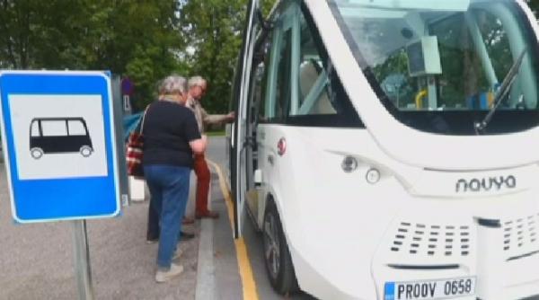 Эстонияда робот-автобустар сынақтан өткізіліп жатыр