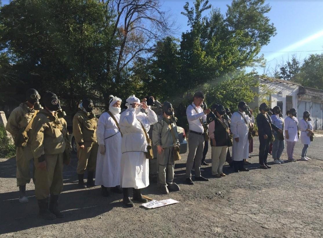 ТҮРКІСТАН: Облыс полицейлері төтенше жағдайлардың алдын алу бойынша оқу-жаттығу өткізді