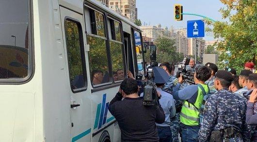 Нұр-Сұлтан мен Алматыдағы рұқсат етілмеген митингіде 57 адам ұсталды