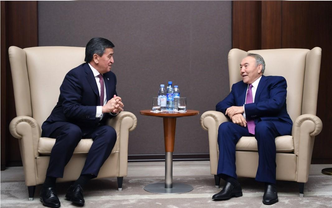 Елбасы Қырғыз Республикасының президентімен кездесті