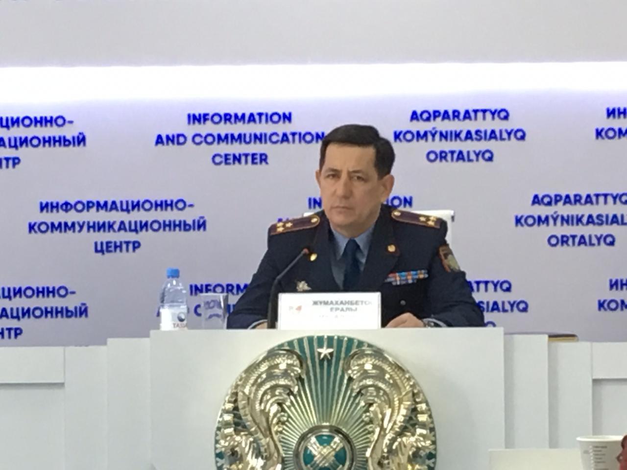 Полиция бастығы: