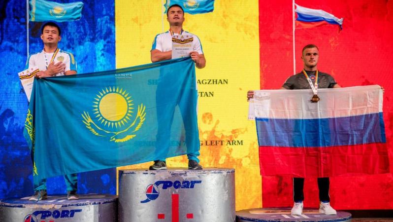 Қазақстан құрамасы қол күрестен әлем чемпионатында 134 медаль жеңіп алды
