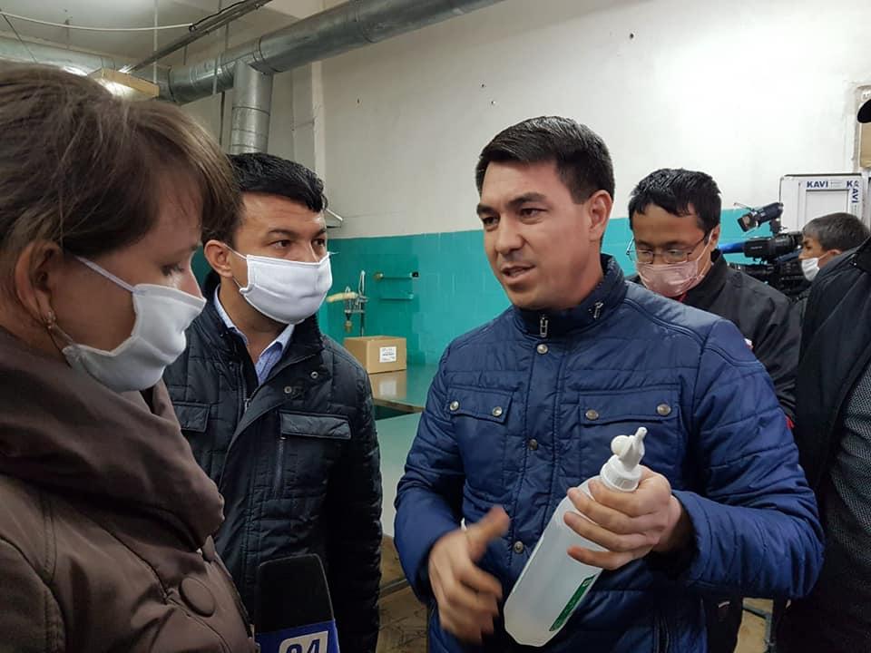 Шымкент: Нұр-сұлтанға көмек ретінде 3 тонна антисептик жіберді