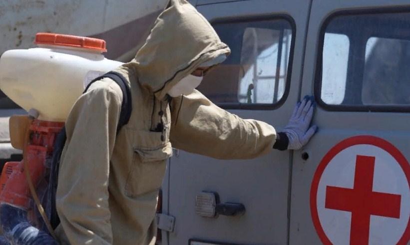 ТҮРКІСТАН: Мақтааралда 500 үй салынып жатқан құрылыс алаңы дезинфекцияланды
