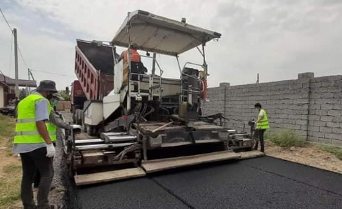 Түркістан облысында жол жөндеу жұмыстары қарқынды жүргізіліп жатыр