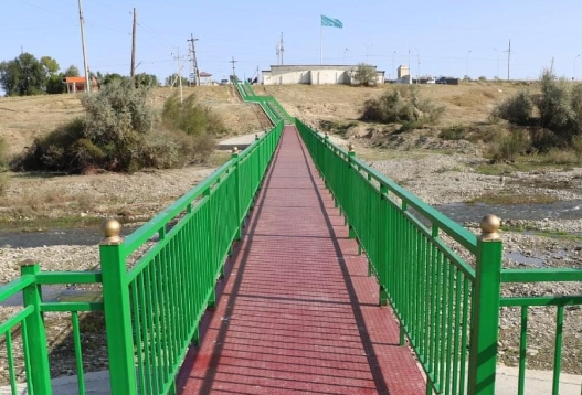 Түркістан облысында 222 метрлік жаңа көпір салынды