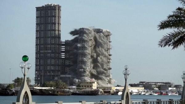 БАӘ-де құрылыс компаниясы әлемдегі ең биік 4 ғимаратты бұзды