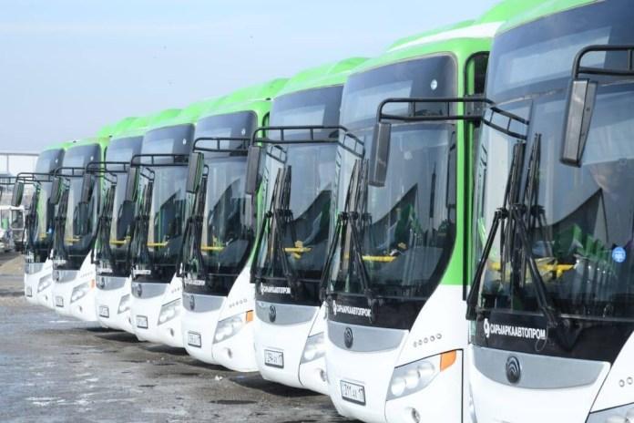 Шымкентте 1-желтоқсаннан бастап жаңа автобустар қызмет көрсетеді