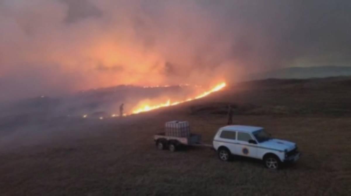Қарағанды облысында дала өртін сөндіру кезінде үш адам зардап шекті