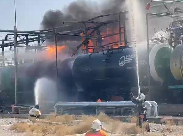 ТҮРКІСТАН: Бензин құйылған цистернадан өрт шықты