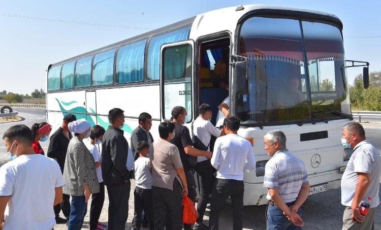 ТҮРКІСТАН: 30 адам Павлодарға жолға шықты